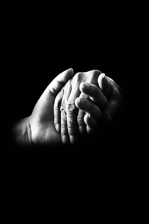 Pausch Quote, caring and helping hand holding that of elderly