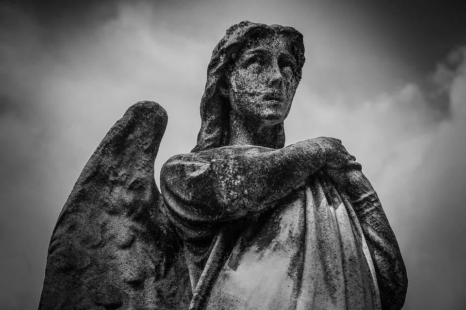 Martineau Quote, decaying statue of an angel