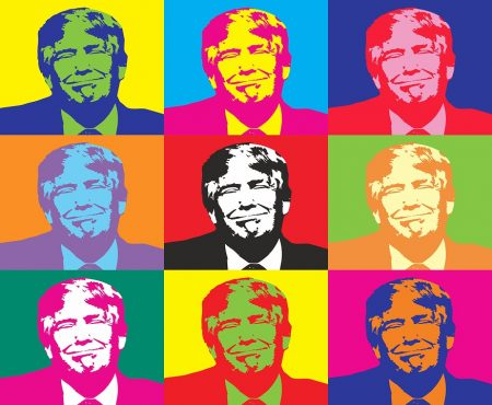 Acker Quote, Trump in Warhole styles art