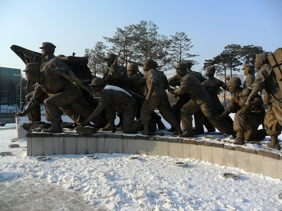Ki-moon Quote, statue in commemoration of Korean War in South Korea